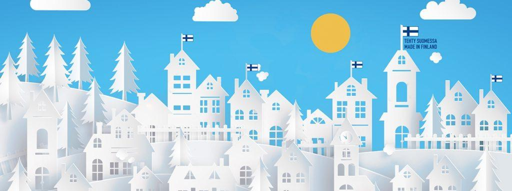 Illustration of Finnish town